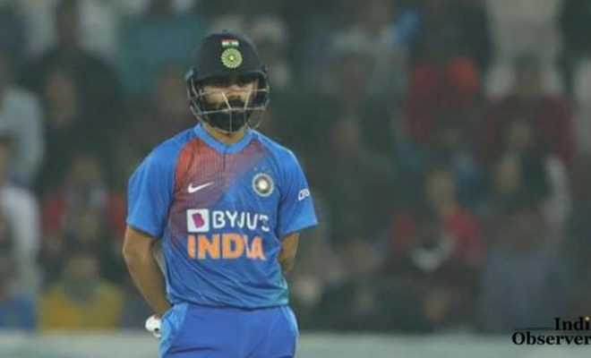 Indian Cricket Captain Virat Kohli in T20
