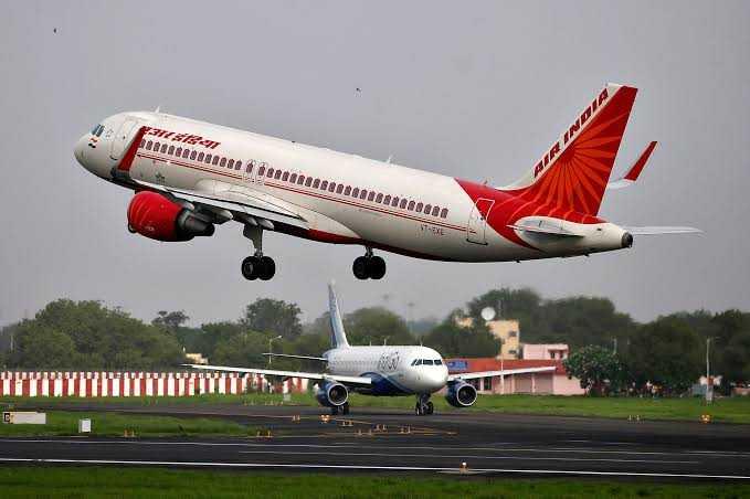 Air India's jumbo B747 plane