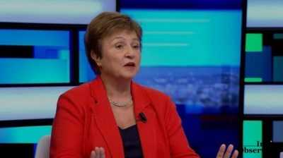 IMF chef Kristalina Georgieva said the economy was expected to return to an upward trajectory