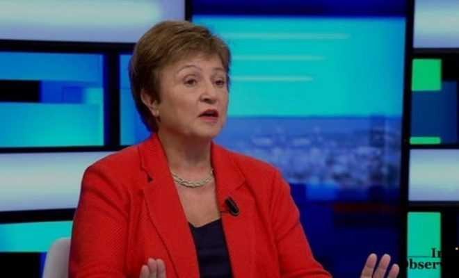 IMF chef Kristalina Georgieva said the economy was expected to return to an upward trajectory
