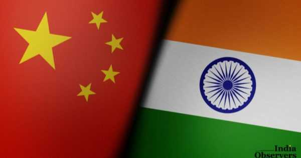 Chinese and Indian flags are paired together