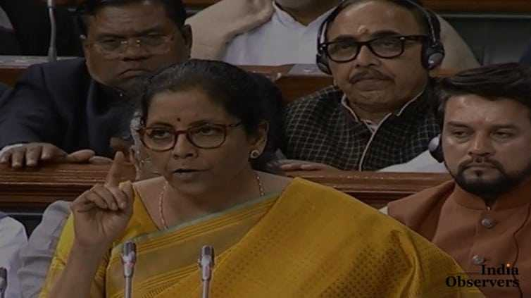 Indian FM Nirmala Sitharaman delivered her budget