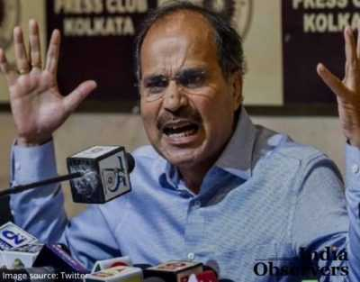 Congress chief Adhir Ranjan Chowdhury in Parliament