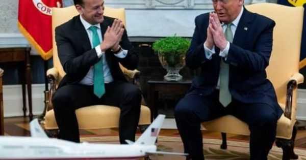 US president Donald Trump did namaste instead of Handshake