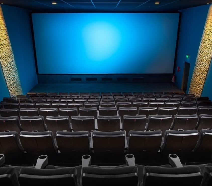 Empty seats in India Multiplex Theater