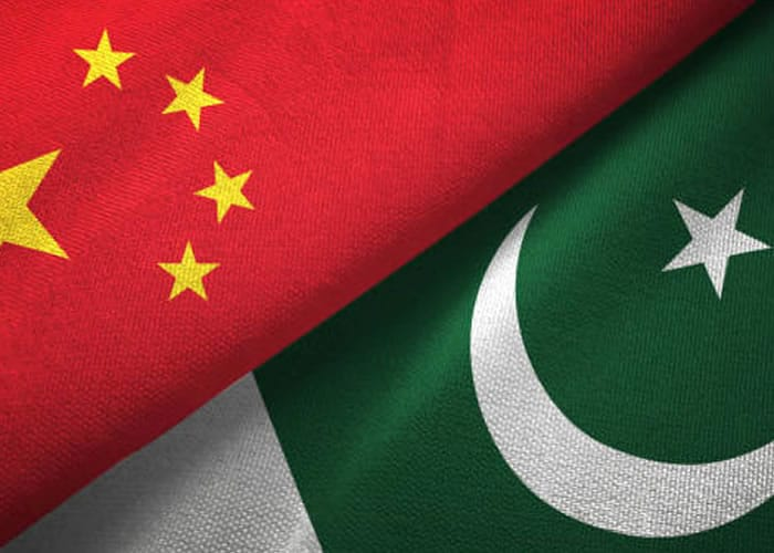 Pakistan and china flag