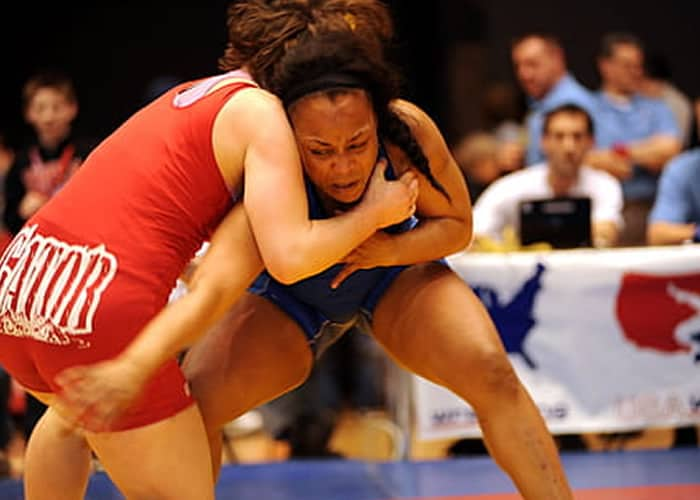 Indian women wrestling match