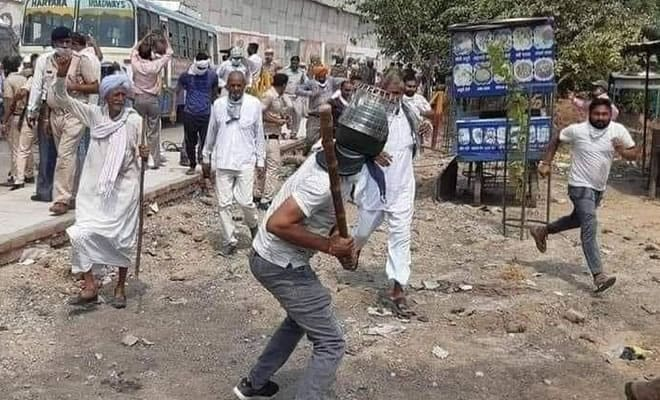 Haryana farmers protest