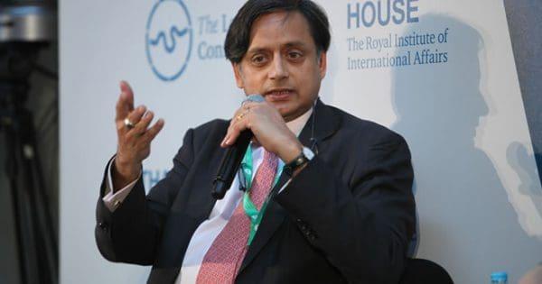 Congress MP Shahi Tharoor