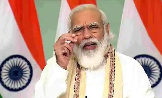 Narendra Modi during the meeting with CM