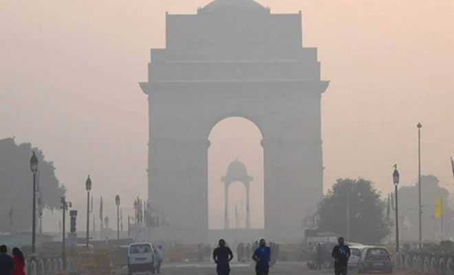 Delhi Gate with air pollution