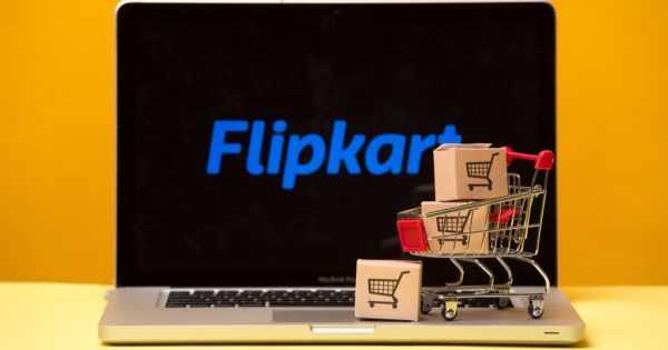 Flipkart on the laptop display