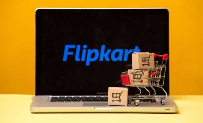 Flipkart on the laptop display