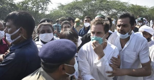 Rahul Gandhi march against Hathras case