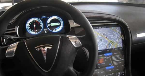 Elon Musk Tesla Car steering