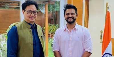 Suresh Raina meets Kiren Rijiju