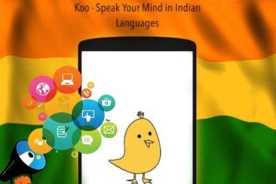 Indian social media app Koo