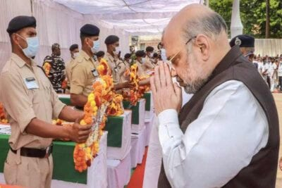amit shah visits ground zero
