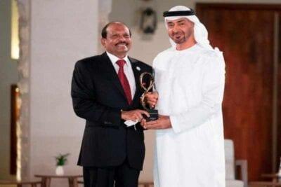 indian nri awarded highest civilian award in abu dhabi