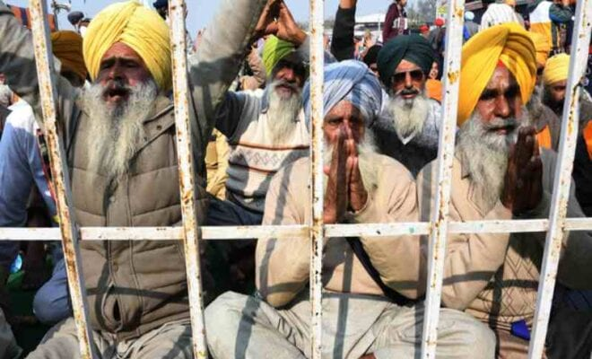 farmer unions join protesters at bathinda chandigarh highway