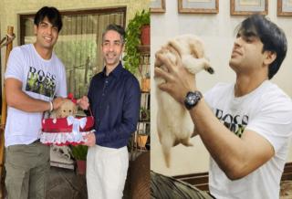 former indian shooter abhinav bindra gifts tokyo to neeraj chopra