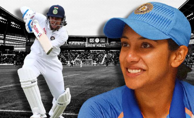 smriti mandhana scores her maiden 100 in pink ball format cricket